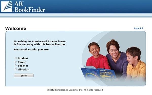AR BookFinder for parents
