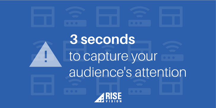 Rise Vision Digital Signage Content Attention Span