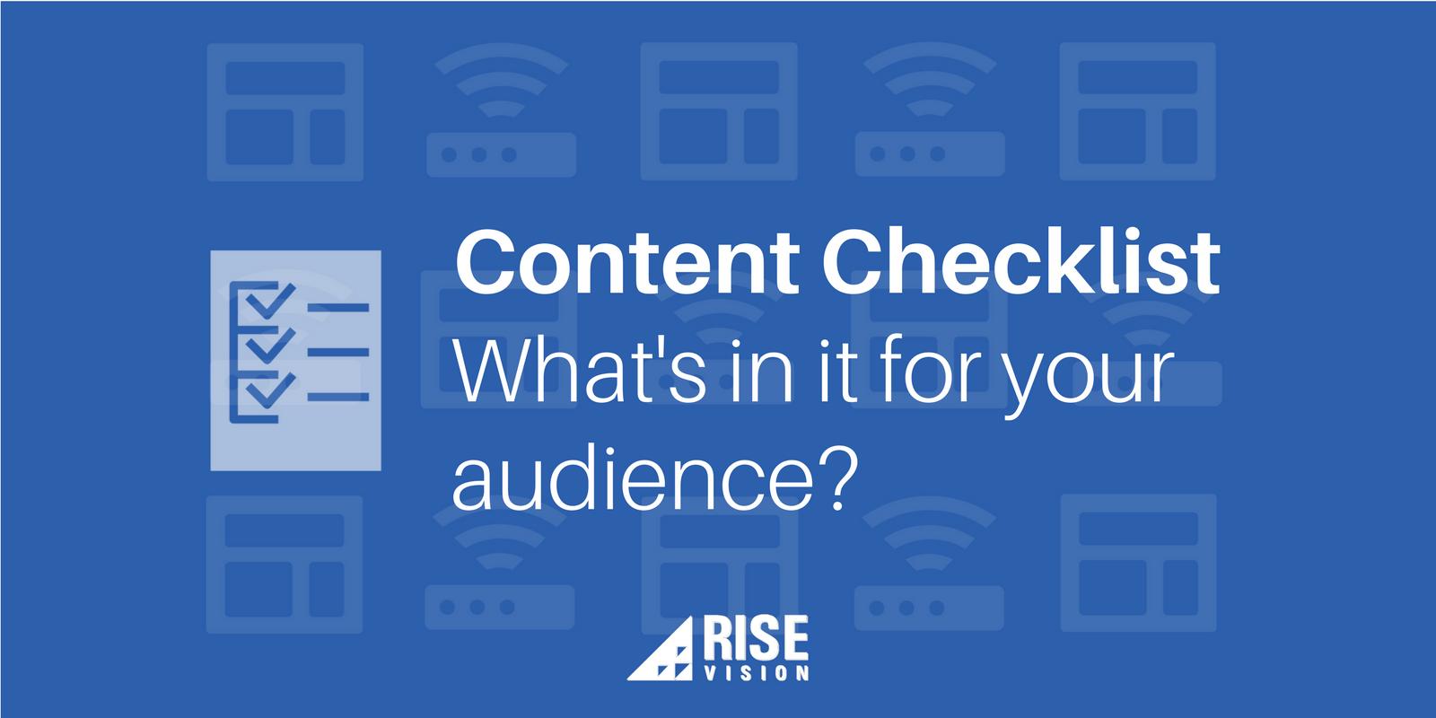 Rise Vision Digital Signage Content Checklist.png