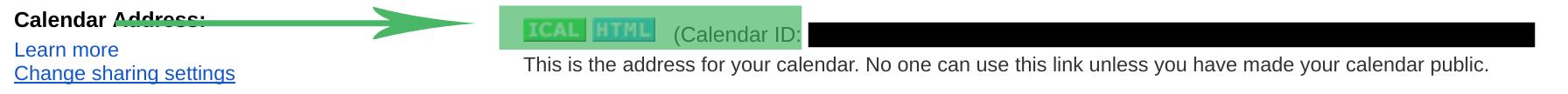 Google Calendar Setting ID for Rise Vision Template