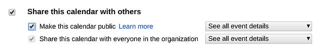 How to Make Google Calendar Public