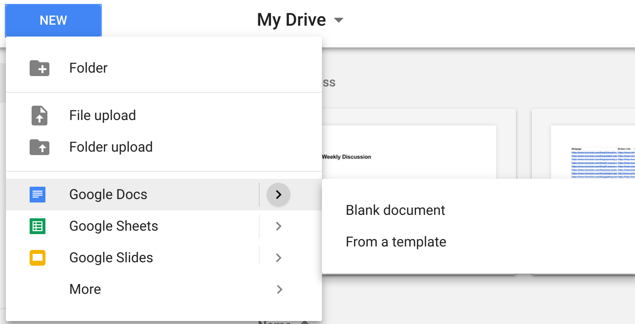 Create Google Doc from Template - Rise Vision