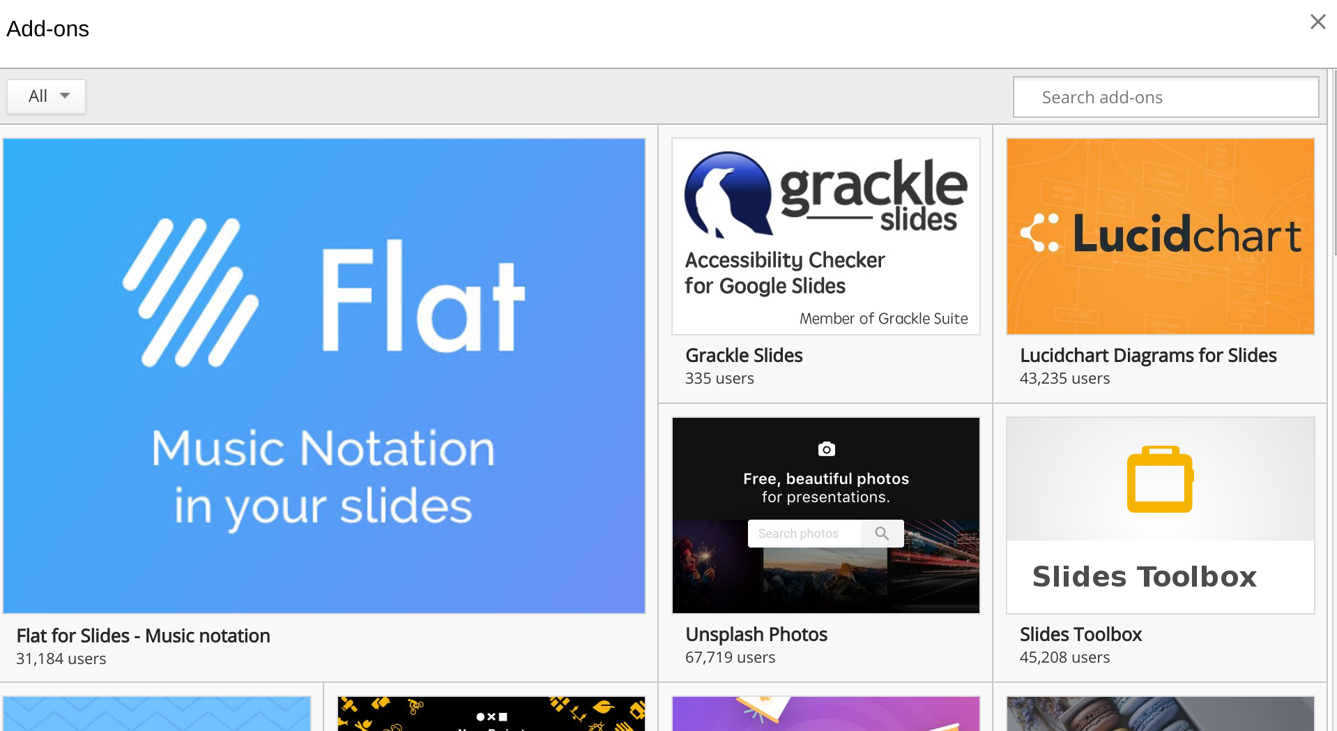 Using a Google Slides Add-on or extension