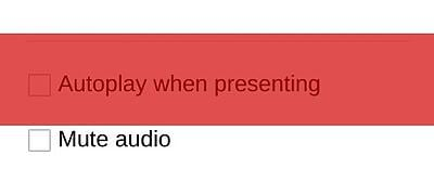 Autoplaying a video in Google Slides