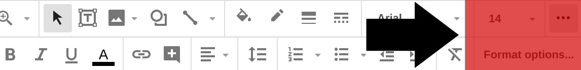 Adding a shadow or reflection to Google Slides text