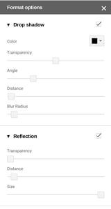 Formatting options for Google Slides