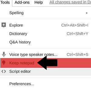 Using Google Keep in Google Slides