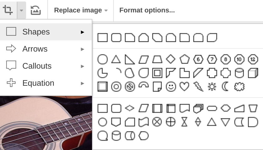 Using the mask image option in Google Slides