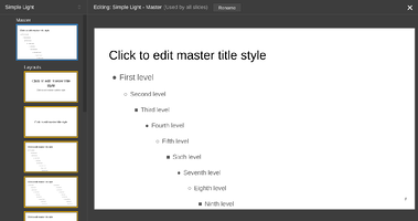 Edit the Master Slides style for digital signage in Google Slides