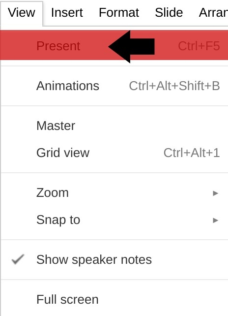 Using Google Slides to host a Q & A in a presentation