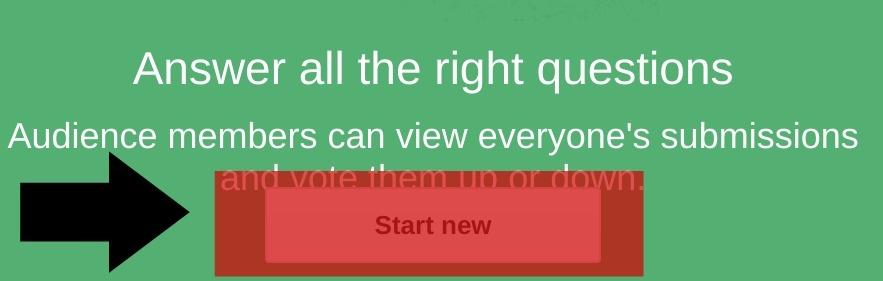 Starting a Q & A in Google Slides