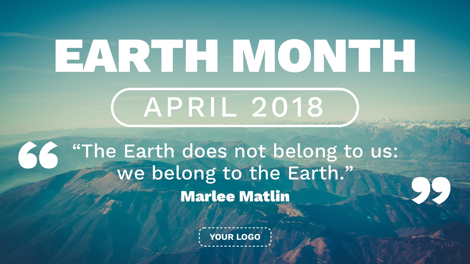 Celebrate Earth Month with this digital signage template