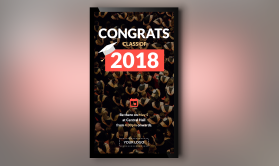 congrats to the class of 2018 portrait