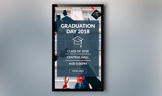 Graduation day template portrait mode