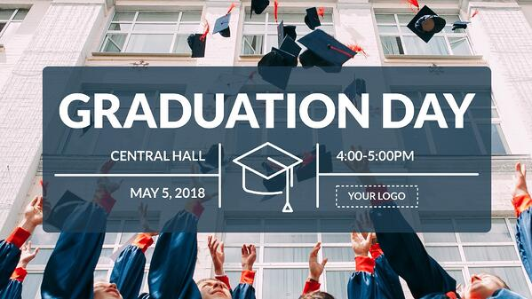 Graduation digital signage template