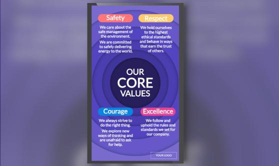 Company values portrait mode
