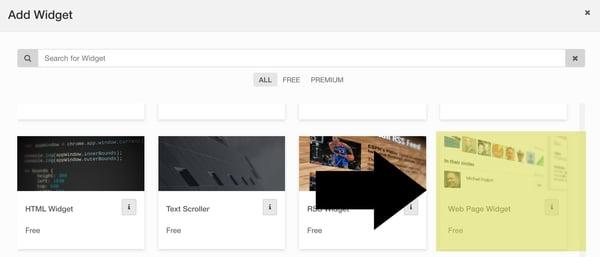 Stream to Display - Web Widget