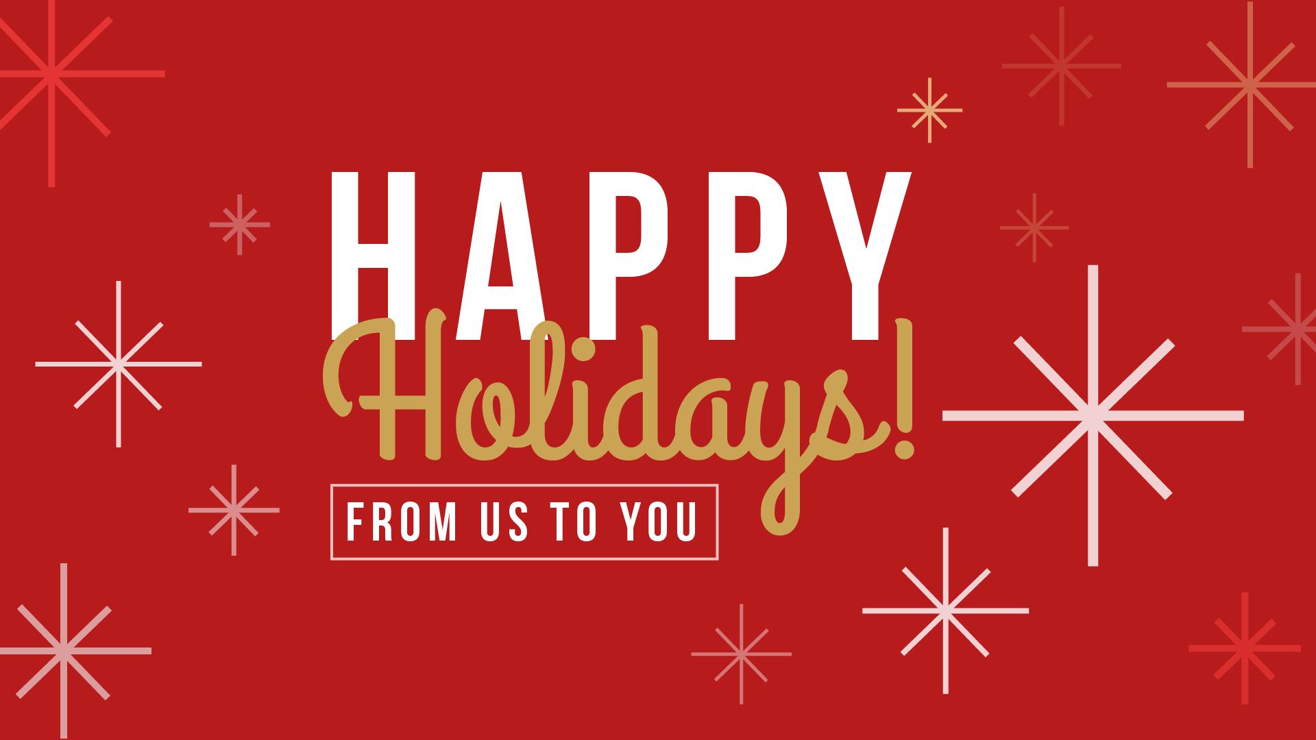 Happy Holidays 01 Digital Signage