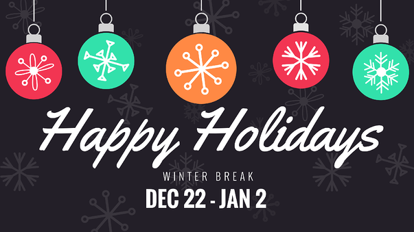 Happy Holidays Winter Break Digital Signage Template