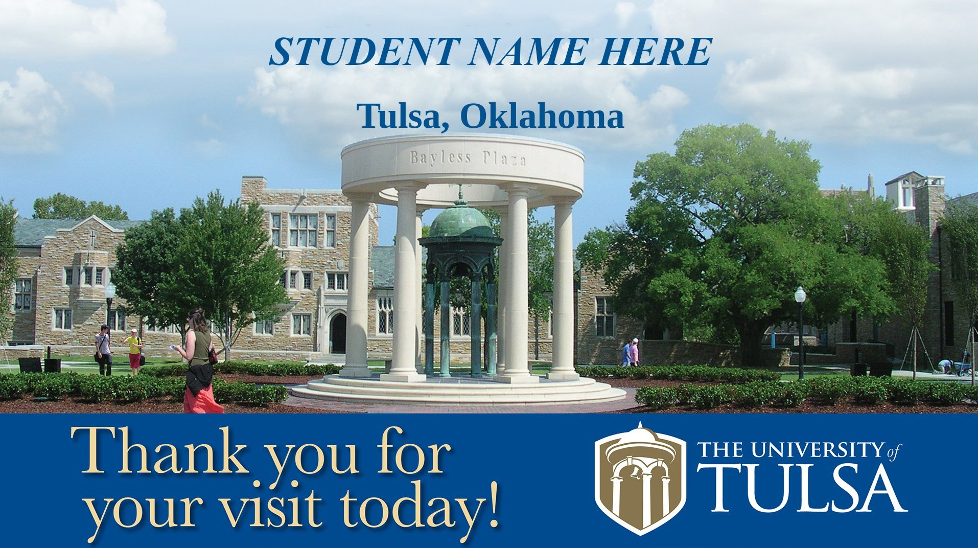 Welcome Message for Student Visit