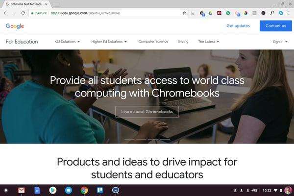 Chrome OS Screenshot