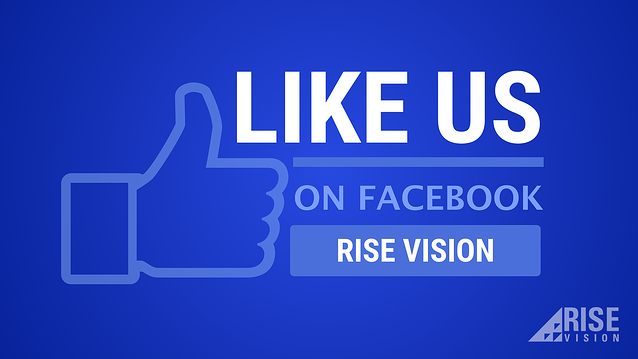 Rise Vision Facebook Digital Signage Template
