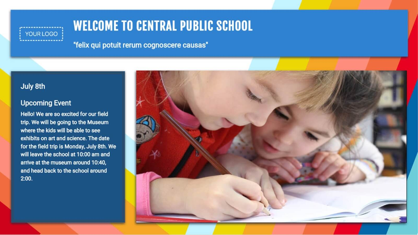 Google Slides School Event Template