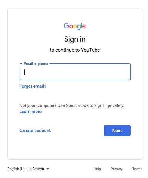 Google Sign In Field