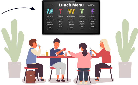 Digital Signage for School Cafeterias