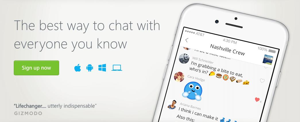 GroupMe chat app