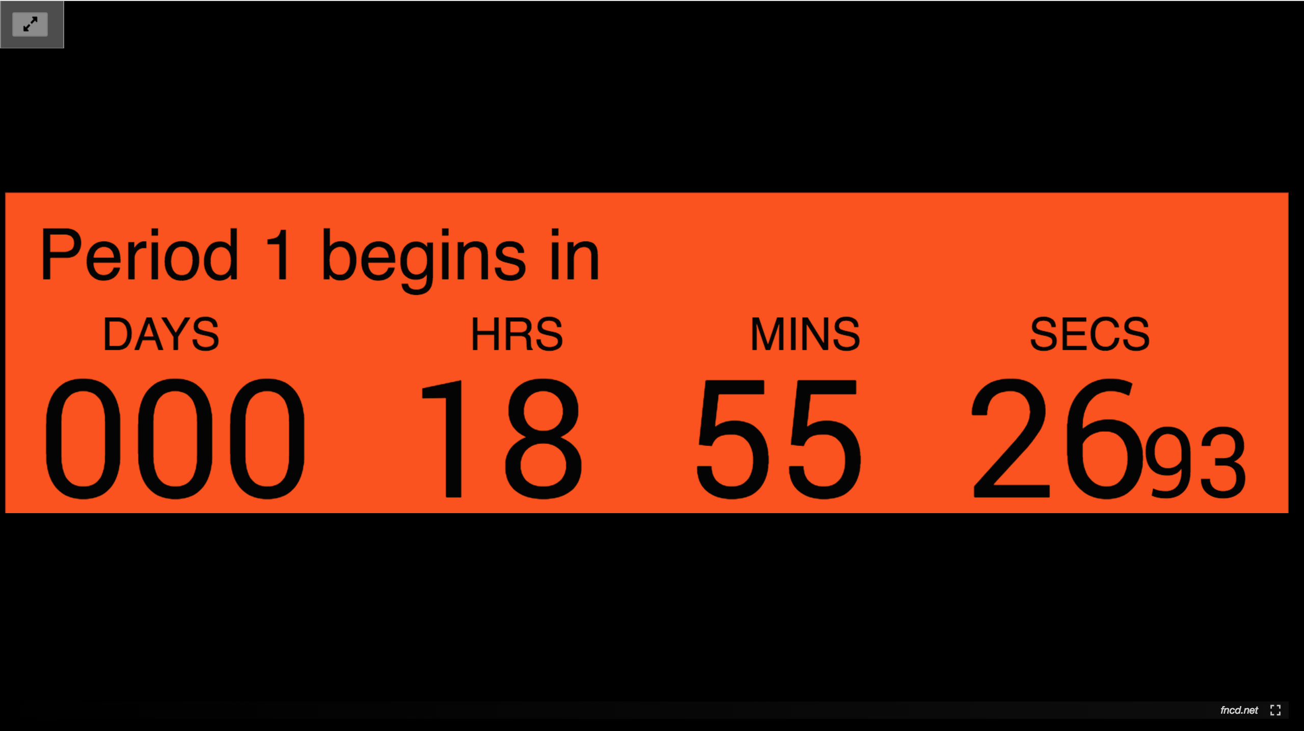 HTML Countdown clock