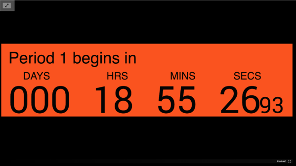 Digital signage template for an HTML countdown clock