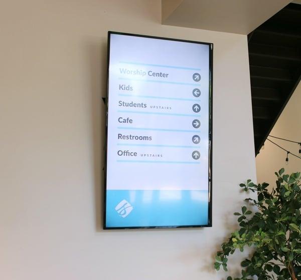 Digital Signage Wall Church Directory