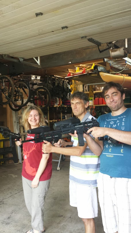 Donna, Oleg, and Alex Spread Some Paintball Love