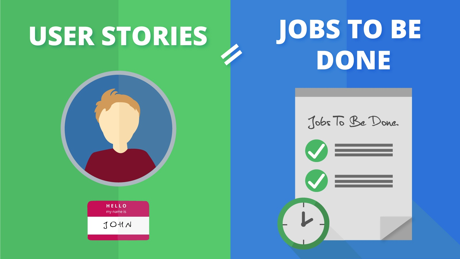 Jobs To Be Done versus User Stories