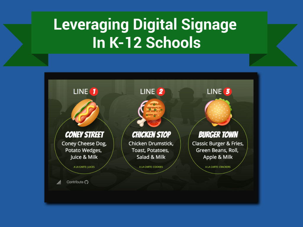 k-12 school digital signage