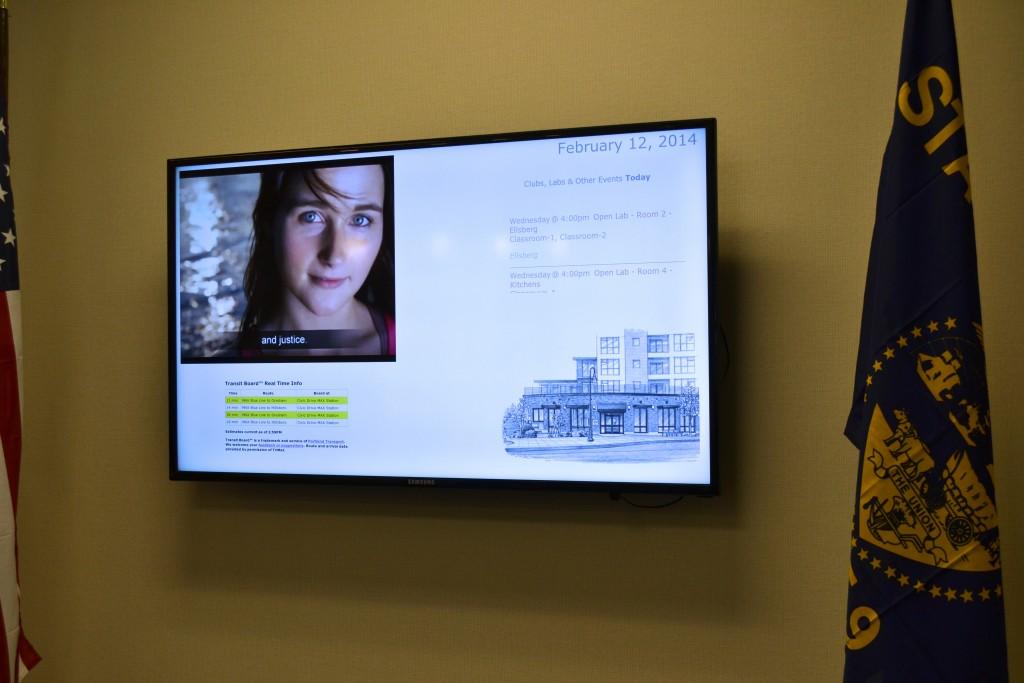 example of Digital Signage in school
