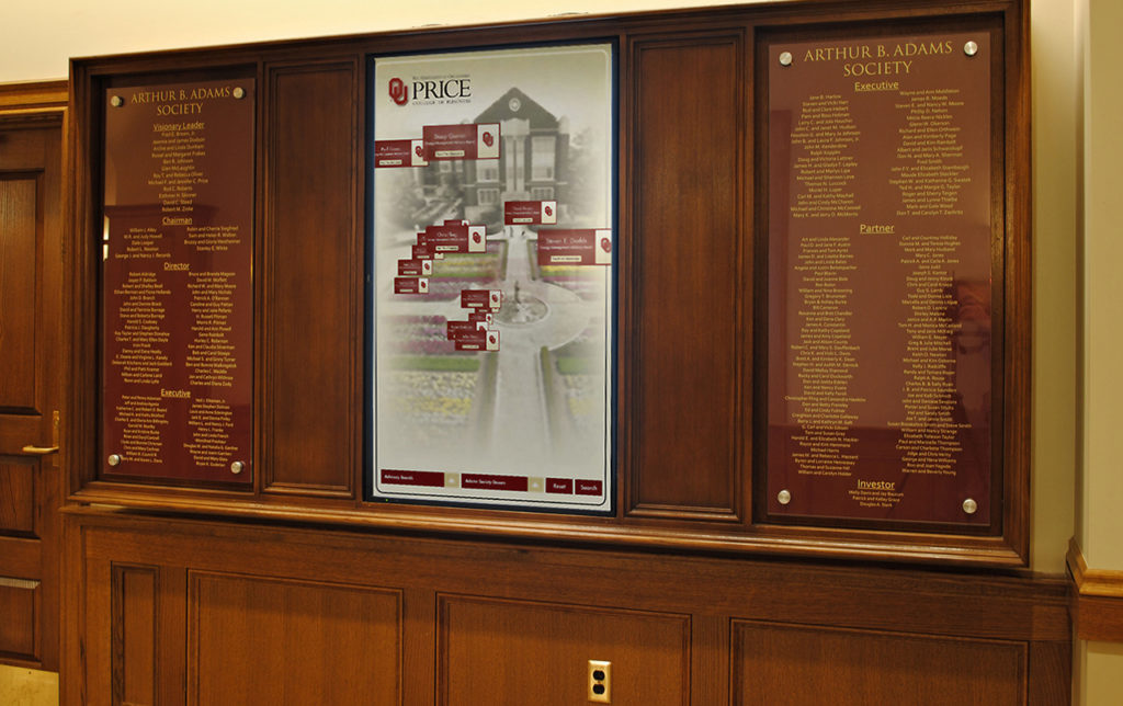 Digital Signage at OU Price College of Business