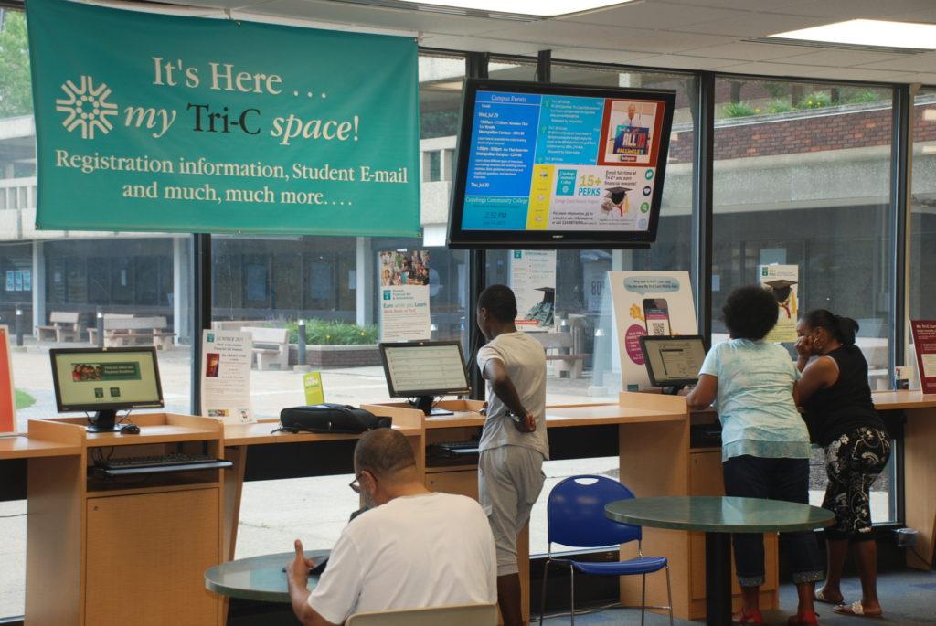 campus digital signage example