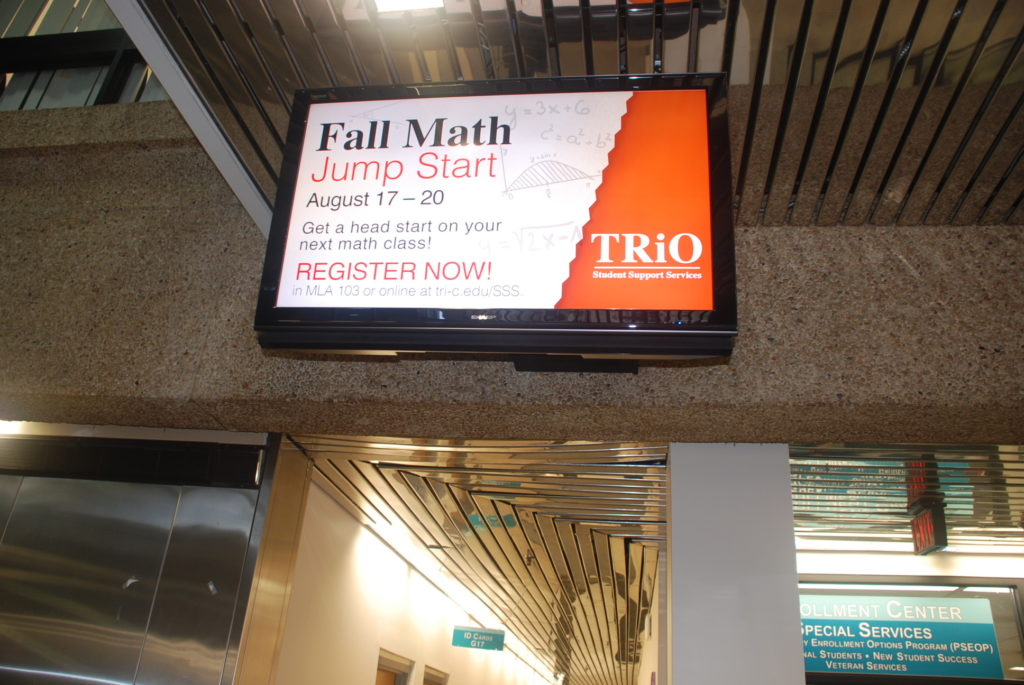example of digital signage within campus