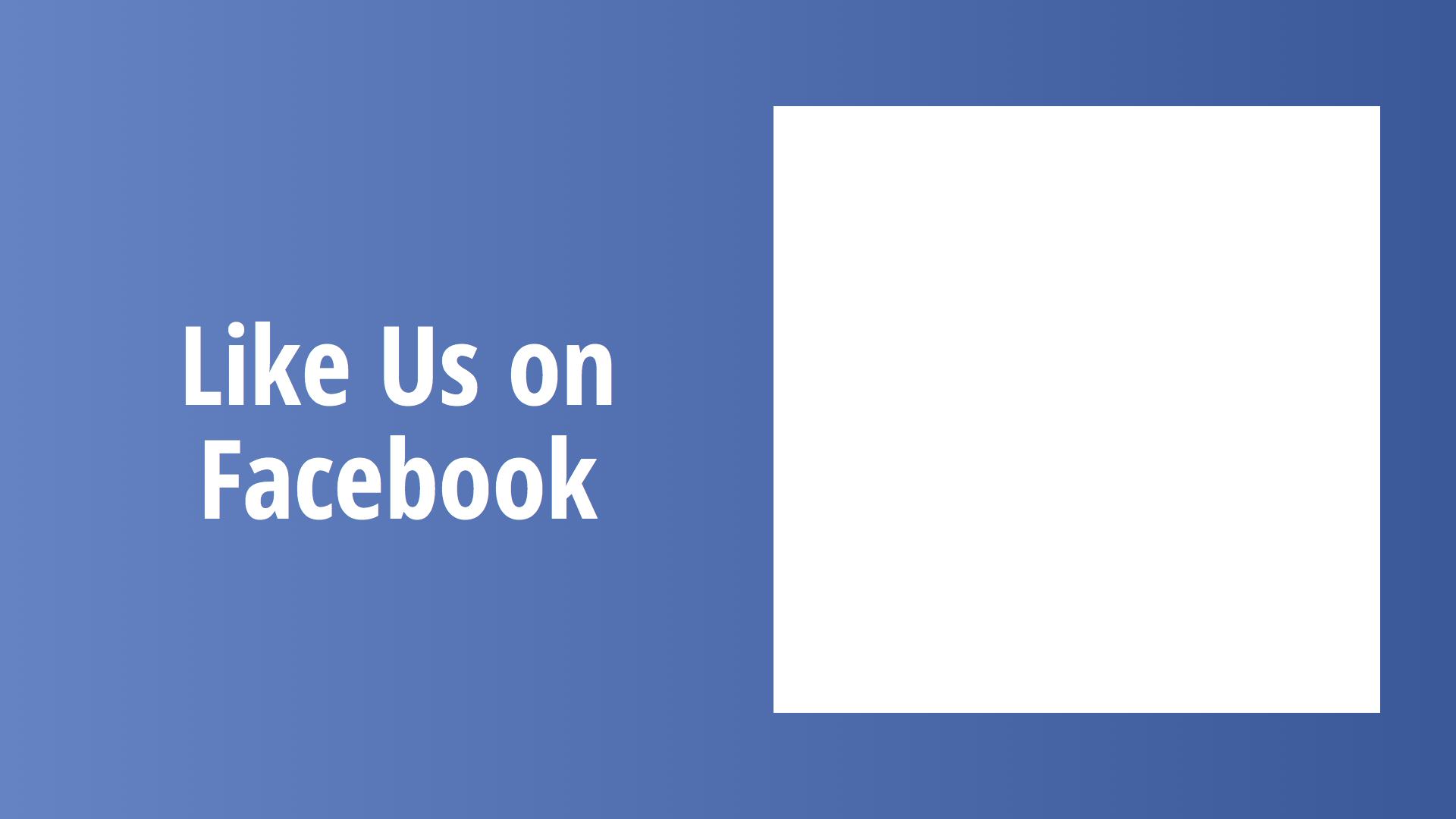 Digital Signage Facebook Layout