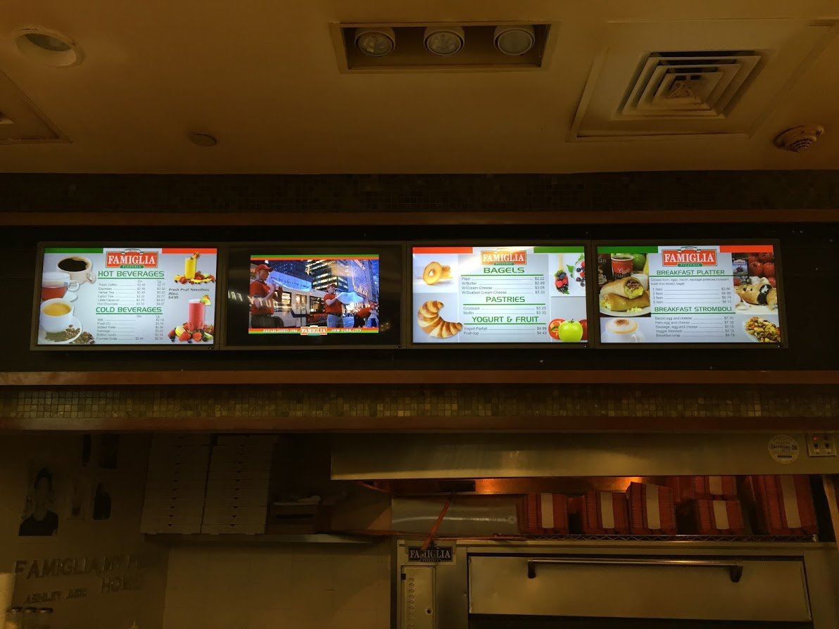 examples of digital restaurant menus