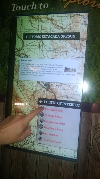 Interactive digital signage content built with HTML5