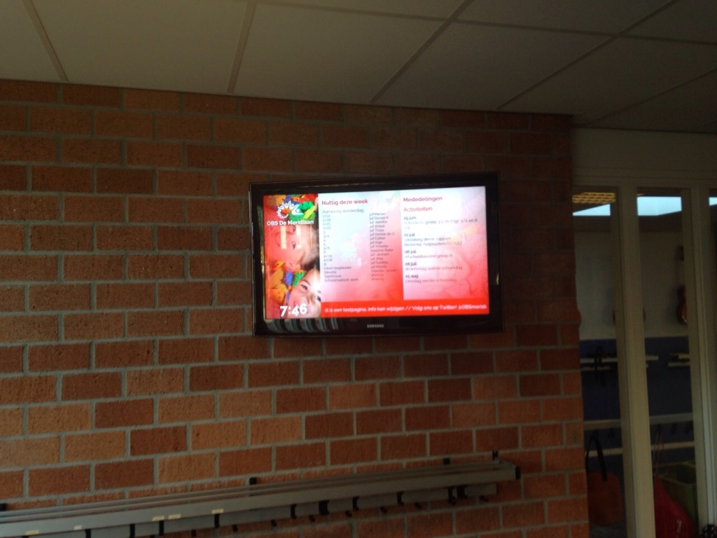 example of school digital signage