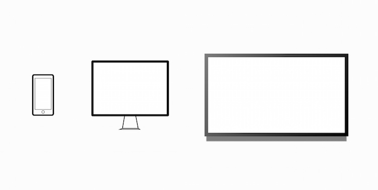 Graphic to illustrate different screen sizes