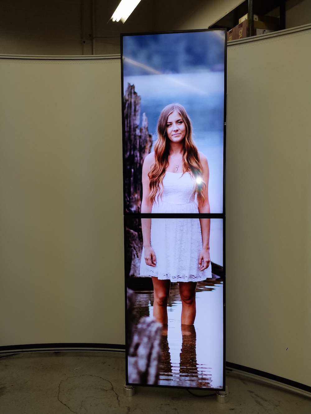 Life size store front digital signage built by RPT Motion