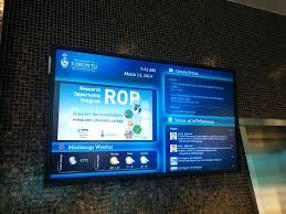 university digital signage