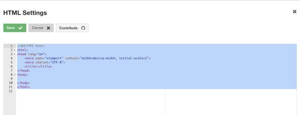 social media wall HTML widget