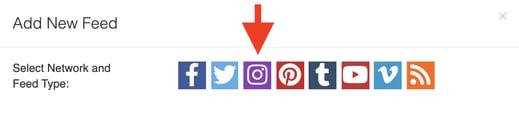 Select the Instagram logo