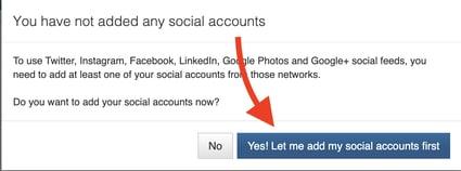 click link social media accounts